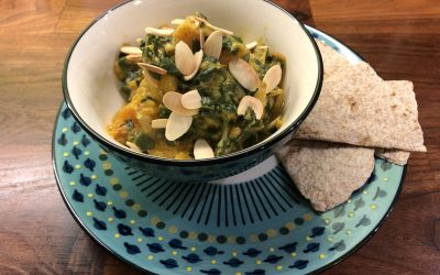 Golden Squash with Spinach