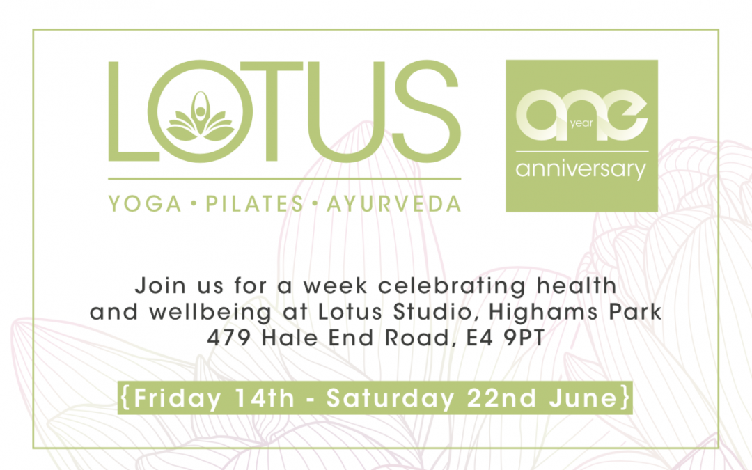 We're celebrating One Year of Lotus at our Highams Park Studio. Book your FREE classes, workshops and events. Find out more here.