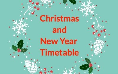 Christmas and New Year Timetable